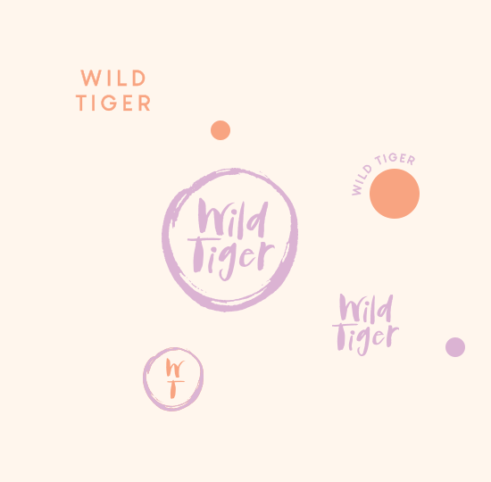 Wild tiger Logo variations square